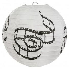 Lanternes boule papier cinéma 20 cm les 2