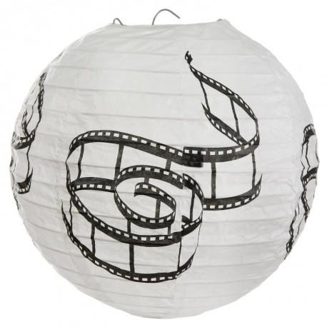 Lanterne boule papier cinéma 20 cm les 2