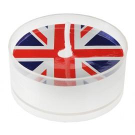 Bougie chauffe plat drapeau anglais Union Jack 3.7 cm les 4