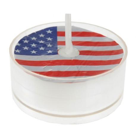 Bougie chauffe plat drapeau américain USA 3.5 cm les 4
