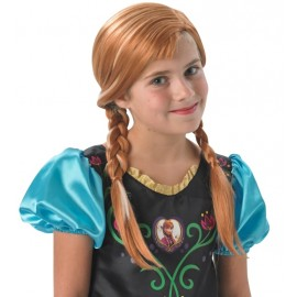 Perruque Anna Frozen La Reine des Neiges fille Disney