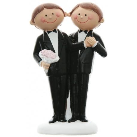 Figurine Mr & Mr Couple de mariés hommes 10 cm