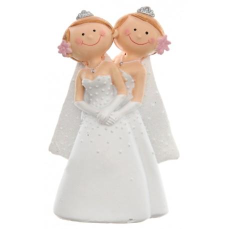 Figurine Mrs & Mrs couple de mariées femmes 10 cm