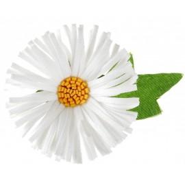 Confettis Marguerite blanche en tissu 5 cm les 6