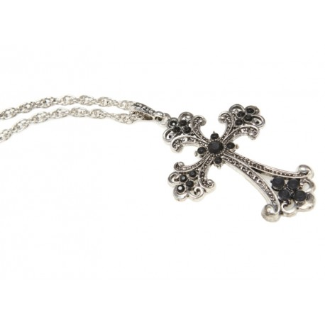 Collier croix baroque adulte