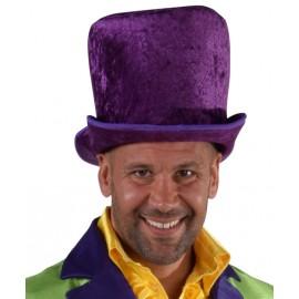 Chapeau haut de forme violet homme luxe