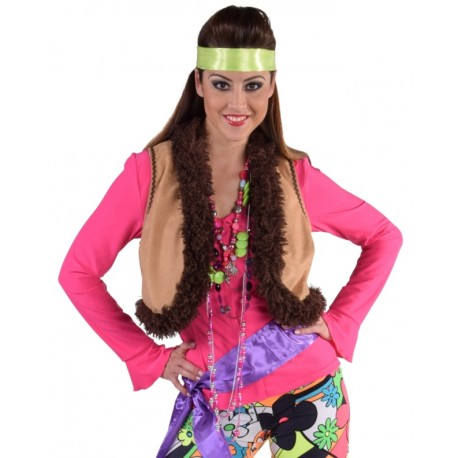 Déguisement gilet hippie femme luxe