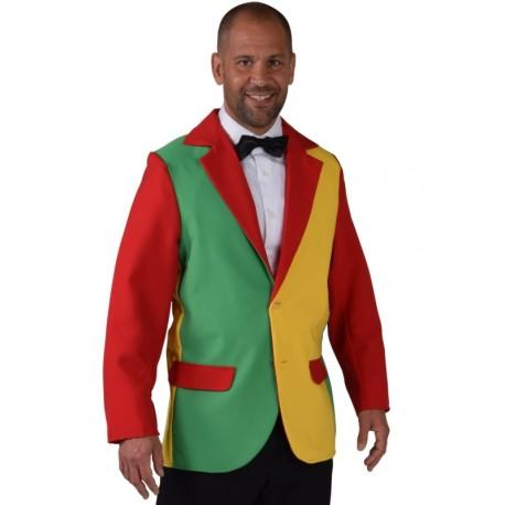 Déguisement veste rouge jaune vert homme   Veste costume Colbert e60e7ab85ae