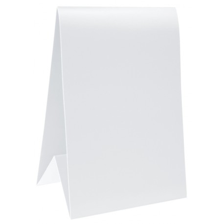 Marque-table carton blanc 15 cm les 6