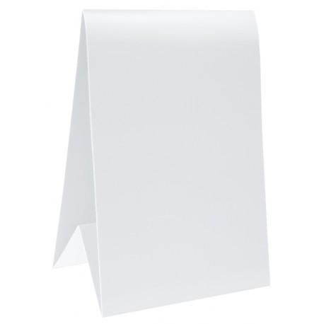 Marque-table carton blanc 15 cm les 60