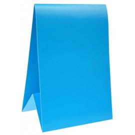 Marque-table carton turquoise 15 cm les 6