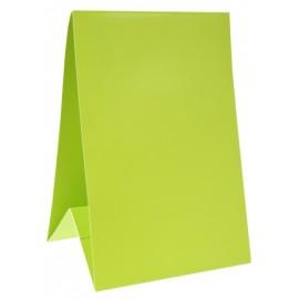Marque-table carton vert anis 15 cm les 6