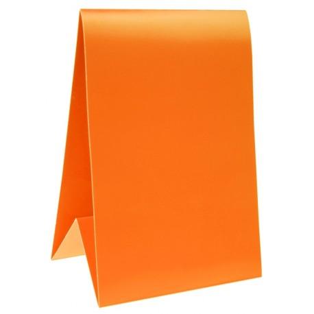Marque-table carton orange 15 cm les 6