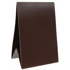 Marque-table carton chocolat 15 cm les 60
