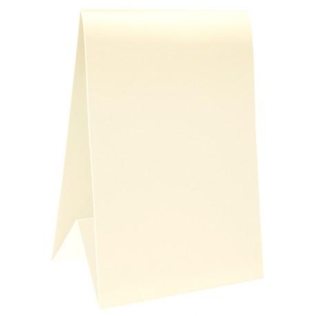 Marque-table carton ivoire 15 cm les 6