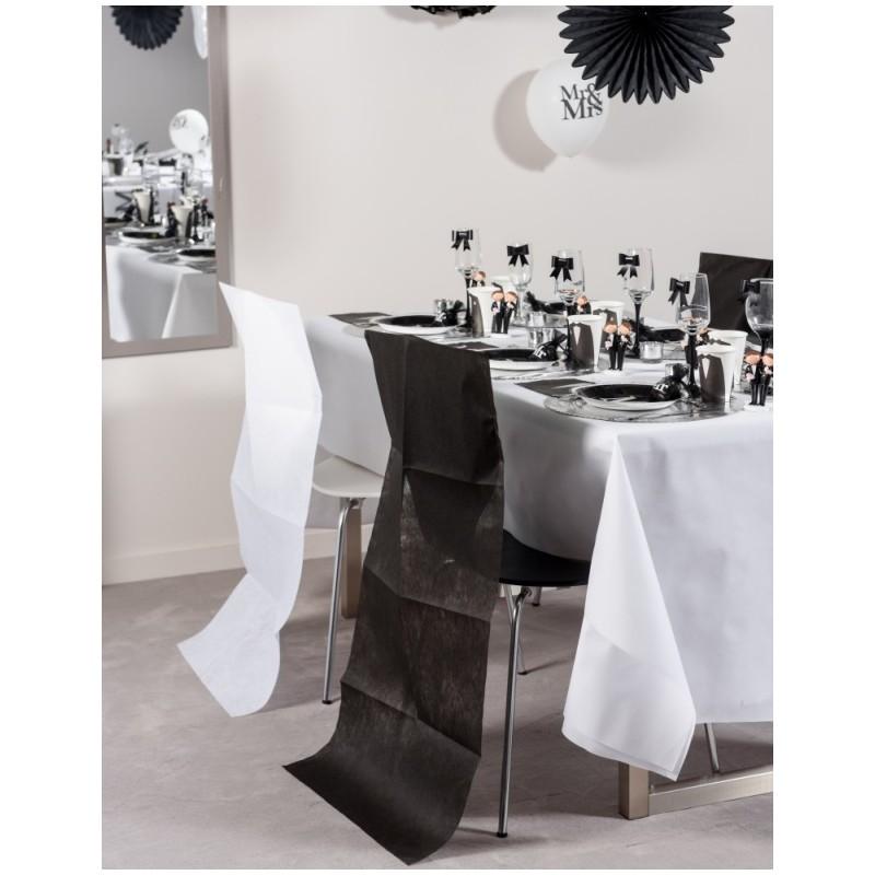 Housse dossier de chaise intiss blanc les 10 achat housses de chaise - Housse de chaise dossier rond ...