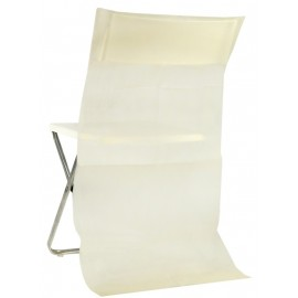 Housses dossier de chaise intissé ivoire les 10