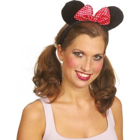 Serre-tête Minnie adulte avec noeud à pois