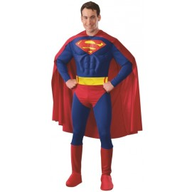 Déguisement Superman homme musclé luxe