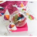 Boîtes à dragées Bonbon plexi transparent 14.8 cm les 20