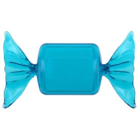 Boîte à dragées Bonbon plexi turquoise 8.5 cm les 40