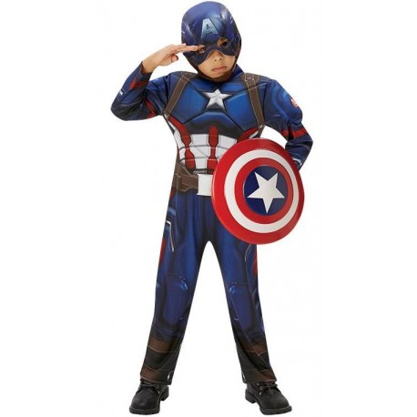Déguisement Captain America Civil War enfant musclé luxe