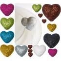 Coeurs Pailletés Festifs Les 12