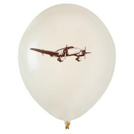 Ballons voyage ivoire chocolat 23 cm les 8