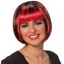 Perruque courte rouge noire femme