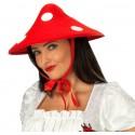 Chapeau champignon rouge à pois blancs adulte et enfant