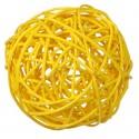 Boules rotin jaune 9 cm les 4