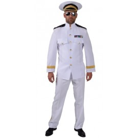 Déguisement officier blanc homme luxe