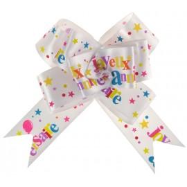 Noeuds joyeux anniversaire festif les 2