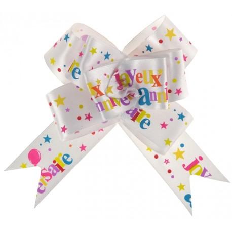 Noeud joyeux anniversaire festif les 2