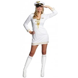 Déguisement officier femme blanc