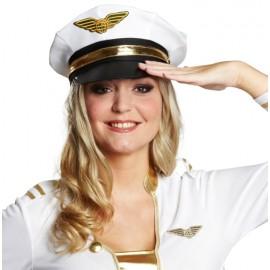 Casquette officier blanc adulte
