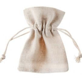 Sachet à dragées coton naturel 10 cm les 6