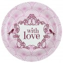 Assiettes carton vintage with love rose 22.5 cm les 10