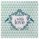 Serviettes de table vintage with love menthe papier les 20