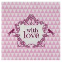 Serviettes de table vintage with love rose papier les 20