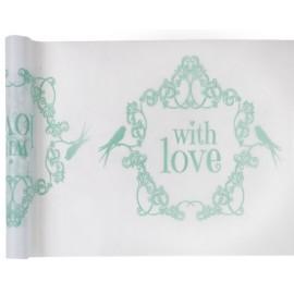 Chemin de table vintage with love menthe 5 M