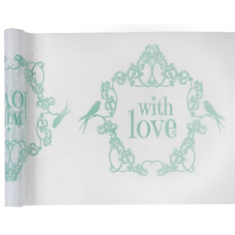 Chemin de table vintage with love menthe 5 M