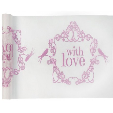 Chemin de table vintage with love rose 5 M