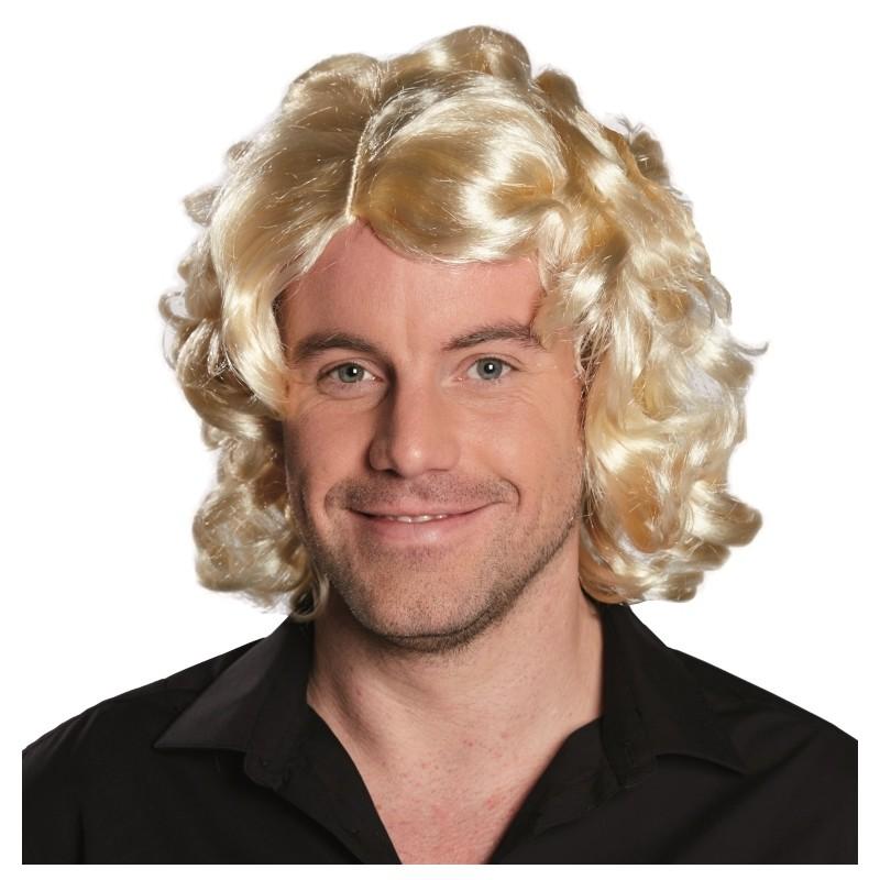 Perruque blonde homme - perruque courte homme