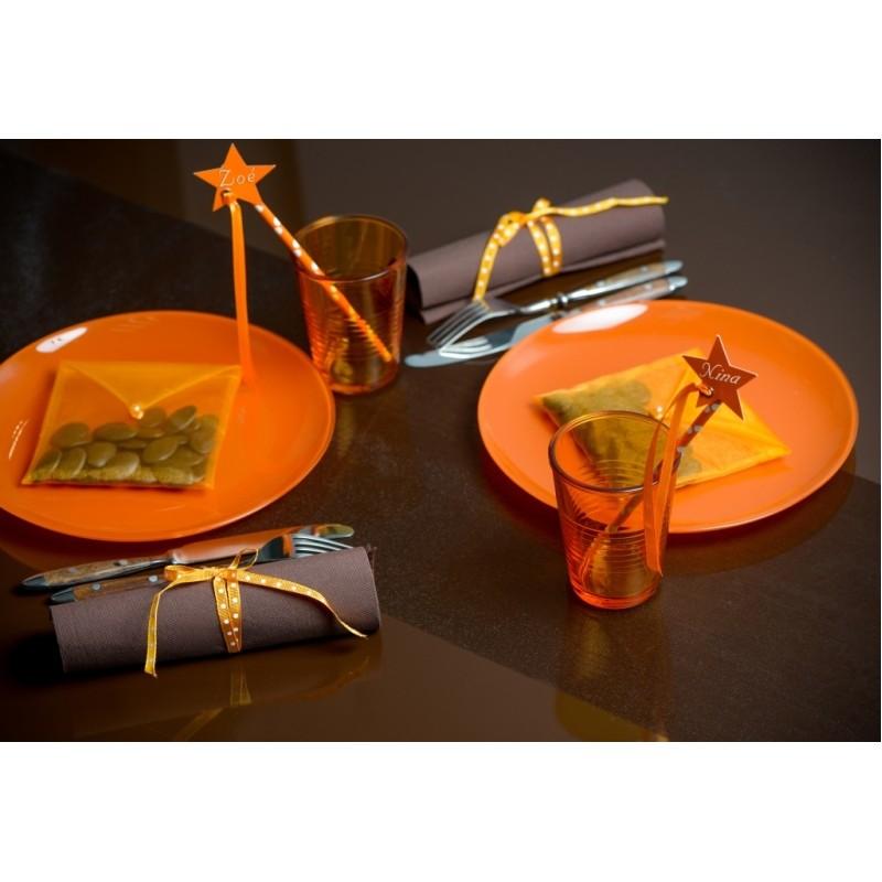 chemin de table organdi uni ambiance - Chemin De Table Color