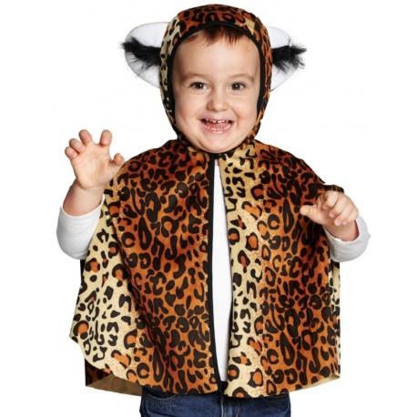 Déguisement cape léopard bébé et enfant