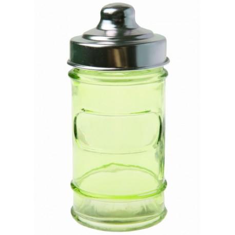 Pot à dragées pharmacie en verre vert anis les 20