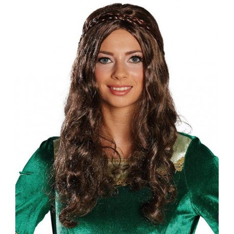 Perruque brune renaissance femme