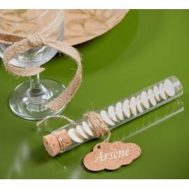 Eprouvettes à dragées en verre transparent 20 cm les 48