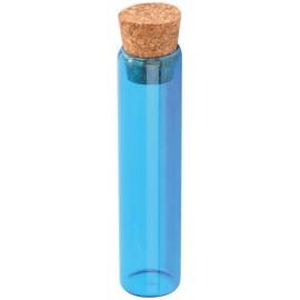 Eprouvettes à dragées turquoise en verre 10 cm les 48